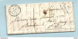 """Haute Loire - St Georges D'Aurat Pour Beaulieu. Cursive + CàD Type 15 De """"LE PUY EN VELAY"""" - 1849-1876: Période Classique"""