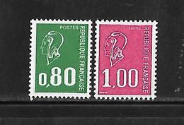 Fg202 France Marianne De Béquet N°1891 Et 1893 Sans Bande De Phosphore N++ - Variétés: 1970-79 Neufs