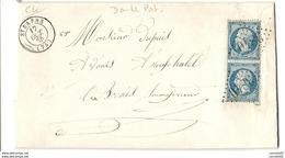 Marne - St Saens Pour Neufchatel En Braye. GC 3840 + CàD Type 15. Double Port - 1849-1876: Période Classique