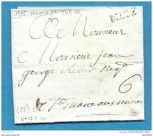 Moselle - Metz Pour St Marie Aux Mines. LAC De 1785 - 1849-1876: Periodo Classico