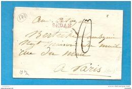 Ardennes - Sedan Pour Paris. LAC. MP 7/SEDAN En Rouge - 1701-1800: Vorläufer XVIII