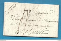 Finistère - Douarnenez Pour La Trinité Par Josselin (Morbihan). LAC De 1823 - 1801-1848: Precursori XIX