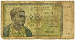 Guiné-Bissau - 500 Pesos - 24.09.1975 - P 3 - Very RARE - Serie E 001 - Presidente Amilcar Cabral - Guinea-Bissau