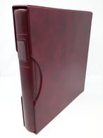 LINDNER Ringbinder 1124 Mit Kassette Rot Gebraucht Neuwertig (Z344) - Alben Leer