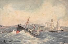 CPA En Pêche - Peinte à La Main - Altre Illustrazioni