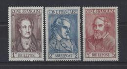 """GERMANY...FRENCH ZONE OF OCCUPATION......"""" 1945 """".......SGF11....12....13......MNH... - Zone Française"""