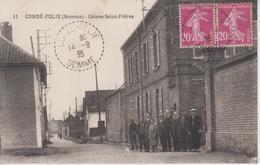 CPA Condé-Folie - Usines Saint-Frères (avec Jolie Animation) - Autres Communes