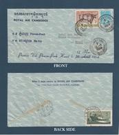 North VIETNAM 1964  COVER  CAMBODGE - HANOI RETURN To  AIR CAMBODGE -  FRONT&BACK SIDE    VF - Vietnam