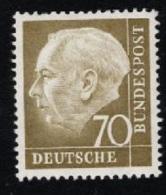 1954 15. Juni Heuss Mi DE 191  Sn DE 716 Yt DE 71 Sg DE 1117 AFA DE 1154 Postfr. Xx - Unused Stamps