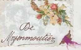 De Moyenmoutier , Carte Fantaisie Fleur Avec Paillette - Senones