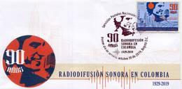 Lote 2019-18F, Colombia, 2019, SPD-FDC, Radiodifusión Sonora En Colombia 90 Años, Radio - Kolumbien