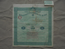 Ancien - Emprunt Funding Or 5% Royaume De Yougoslavie 1933 - Shareholdings