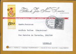 Postal Comercial De Santo António Das Areias, Marvão, Alentejo. Flor Do Pereiro. Obliteração. Pereiro Flower. Rare - 1910-... Republic