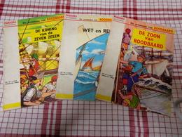 Roodbaard ; 3 Albums De Koning V/d 7 Zeeen,De Zoon Van Roodbaard, Wet En Recht ( 3x 1e Druk 1961 ) - Roodbaard