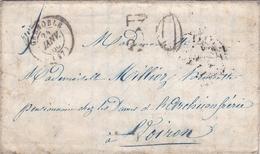FRANCE LETTRE DE 1860 AVEC TAMPON TAXE DE 30 TAMPON A DATE GRENOBLE - 1849-1876: Periodo Classico