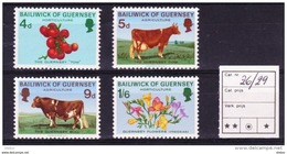 Guersney 1970 Nr 26/29 **, Zeer Mooi Lot Krt 3862 - Guernesey