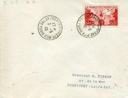 PARIS SALON FRANCE OUTREMER 2 Mai 1940 Sur Timbre France D'outremer Pour Pornichet - Cachets Commémoratifs