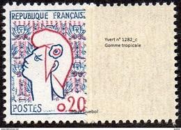 France Marianne De Cocteau N° 1282.c ** Variété, Gomme Tropicale - 1961 Maríanne De Cocteau