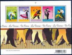 2006 Belgium - Dance / La Dance - MS Mi B 115 - MNH ** Tango, Walz, Rumba, Cha - Cha - Cha, Rock And Roll - Ungebraucht