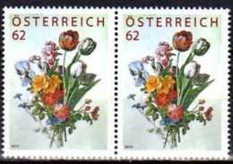 2012 Austria - Flowers Bouquet  -Treu Marken / Bonus Stamps, Not In Free Sale - Setenant 2 V - Paper - MNH** MiNr. 2981 - 1945-.... 2nd Republic