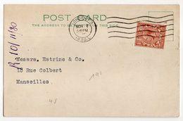 Grande Bretagne - 1930--carte Postale De Londres Pour Marseille (France)..timbre Seul Sur Document - 1902-1951 (Rois)