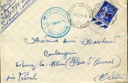 Timbre FM N° 8  Neuf Brisach 11 Mai 1939 Pour La Région De Vesoul Echenoz La Meline 42e Régiment D'infanterie - Guerres
