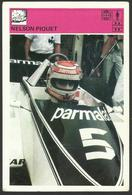 NELSON PIQUET Brazil  Car Racing Driver Formula 1  -  Card 10 X 15 Cm - 0335 (see Sales Conditions) - Automobile - F1