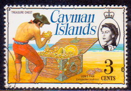 Cayman Islands 1976 SG #412 3c Used Wmk Multiple Crown CA Diagonal - Caimán (Islas)