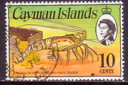 Cayman Islands 1976 SG #416 10c Used Wmk Multiple Crown CA Diagonal - Caimán (Islas)