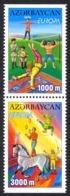 Azerbaijan Sc# 729a MNH V Pair 2002 Europa - Azerbaïjan