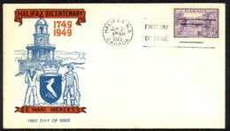 Canada Sc# 283 (cachet) FDC (b) 1949 6.21 Halifax Bicentenary - ....-1951