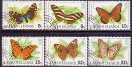 Cayman Islands 1977 SG #435-40 Compl.set Used Butterflies And Moth - Caimán (Islas)