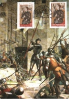 Carte Maximum YT 4654 Timbres Français Et Vatican 600e Anniversaire De Jeanne D'Arc 11 05 2012 Paris 75 Parfait état - 2010-....