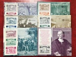 """Portugal, 1 X 6 Uncirculated Souvenir Sheets, «Europa Cept», «Colombo's Travels"""", 1992 - Europa-CEPT"""
