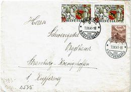LCTN59/ALS 2 BB - SUISSE  LETTRE BERNE / STRASBOURG 7/9/1941 CENSURE ALLEMANDE - Svizzera