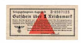 KRIEGSGEFANGENEN LAGERGELD Gutfchein über 1 Reichsmark (Billet Camp De Prisonniers -guerre 1939-1945  JAN 2020 Gera - Sonstige