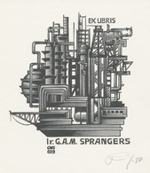 Ex Libris G.A.M. Sprangers - Anatoli Kalashnikov - Ex-libris