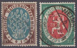 GERMANIA - ALLEMAGNE - 1919/1920 - Lotto Di 2 Valori Usati: Yvert 107/108, Come Da Immagine. - Deutschland