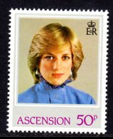 ASCENSION - 1982 PRINCESS DIANA 21st BIRTHDAY 50p STAMP FINE MNH ** SG 325 - Ascension
