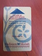 Radisson Moriah Plaza Hotel Jerusalem, Israel(backside MasterCard Advertisment) - Cartas De Hotels