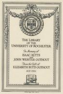 Ex Libris  - Kent RockwellEx Libris The Library Of The University Of Rochester - William Edgar Fisher - Ex-libris