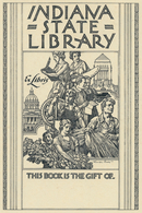 Ex Libris Indiana State Library - Franklin Booth - Ex-libris