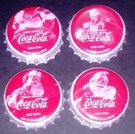 Ecuador South America Christmas 2019 Navidad COCA COLA Santa Claus Bottle Cap Set - Soda