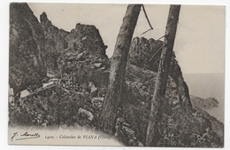 (RECTO / VERSO) PIANA - N° 1410 - LES CALANCHES - PETITE CASSURE ANGLE BAS A GAUCHE - CPA VOYAGEE - France