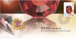 Rare Beauties - Extraordinary Gemstones  • 2017 • Stamp And $1 Coin Cover - Tuvalu