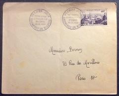 018 Bagnères De Bigorre 916  Observatoire Du Pic Du Midi FDC Premier Jour 22/12/1951 Lettre - FDC