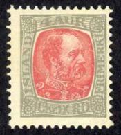 Iceland Sc# 35 MH 1902-1904 4a Gray & Rose King Christian IX - 1873-1918 Dépendance Danoise