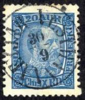 Iceland Sc# 40 Used (a) 1902-1904 20a Deep Blue King Christian IX - Oblitérés