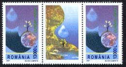 Romania Sc# 4448 MNH Pair + Label 2001 Europa - 1948-.... Républiques