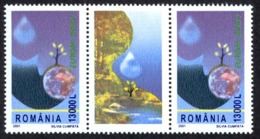 Romania Sc# 4448 MNH Pair + Label 2001 Europa - 1948-.... Republics